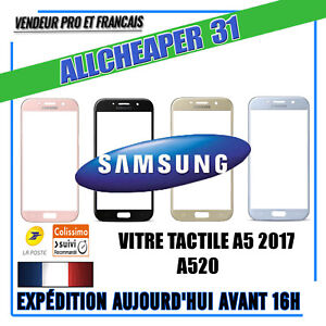 VITRE-ECRAN-TACTILE-SAMSUNG-GALAXY-A5-2017-A520-noir-rose-blue-or-kit-outils