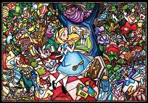 STORIA  DI ALICE vetro Coloreeeeeato del Paese delle Meraviglie Puzzle 1000 (51x73.5cm)  più economico