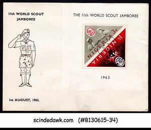 Nigeria - 1963 Le Monde 11th Scout Jamboree-min/sht-fdc-afficher Le Titre D'origine