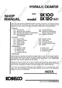 Details about KOBELCO SK120 EXCAVATOR SERVICE MANUAL ON CD *FREE POSTAGE*