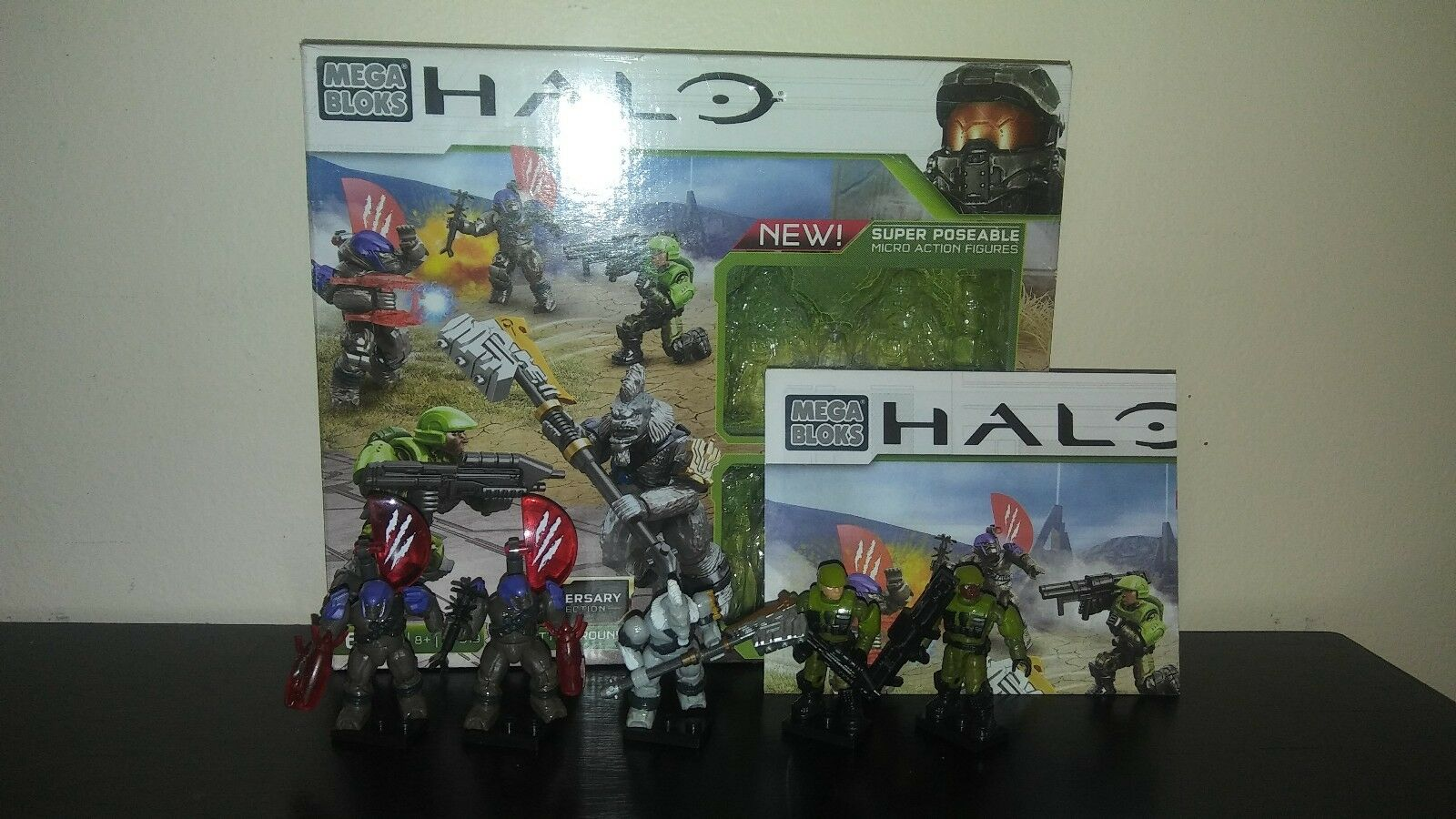 Rare Halo Mega Bloks 97519 Anniversary Collection Battleground Broken Hammer