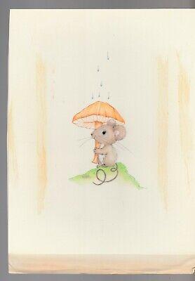 Mice Under Mushroom Card