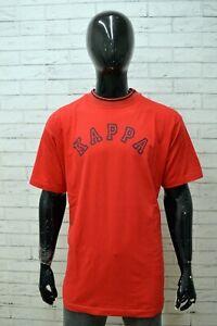 Maglia-KAPPA-Uomo-Taglia-Size-XXL-Maglietta-Shirt-Man-Manica-Corta-Cotone-Rosso