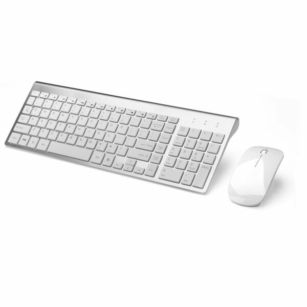 wireless keyboard and mouse combo set for mac apple pc full size slim silve for sale online. Black Bedroom Furniture Sets. Home Design Ideas