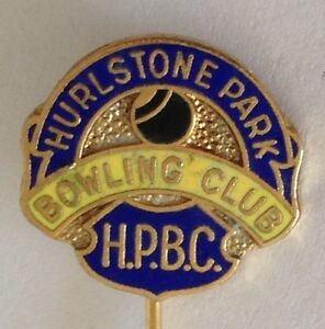 Hurlstone-Park-Bowling-Club-Pin-Badge-Rare-Vintage-M10