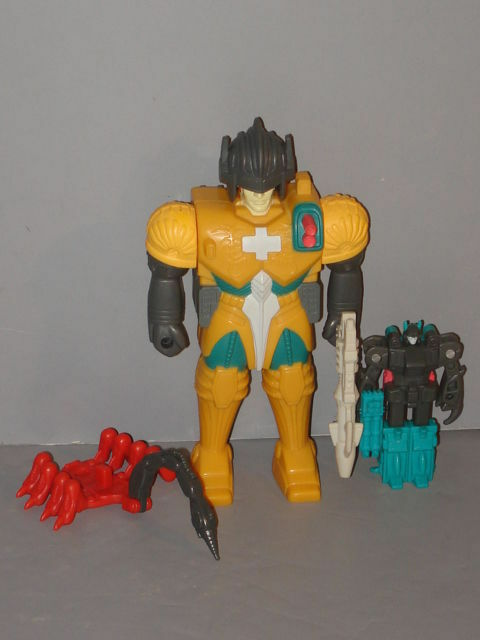 G1 TRANSFORMER PRETENDER PINCHER COMPLETE  PROF CLEANED  LOT