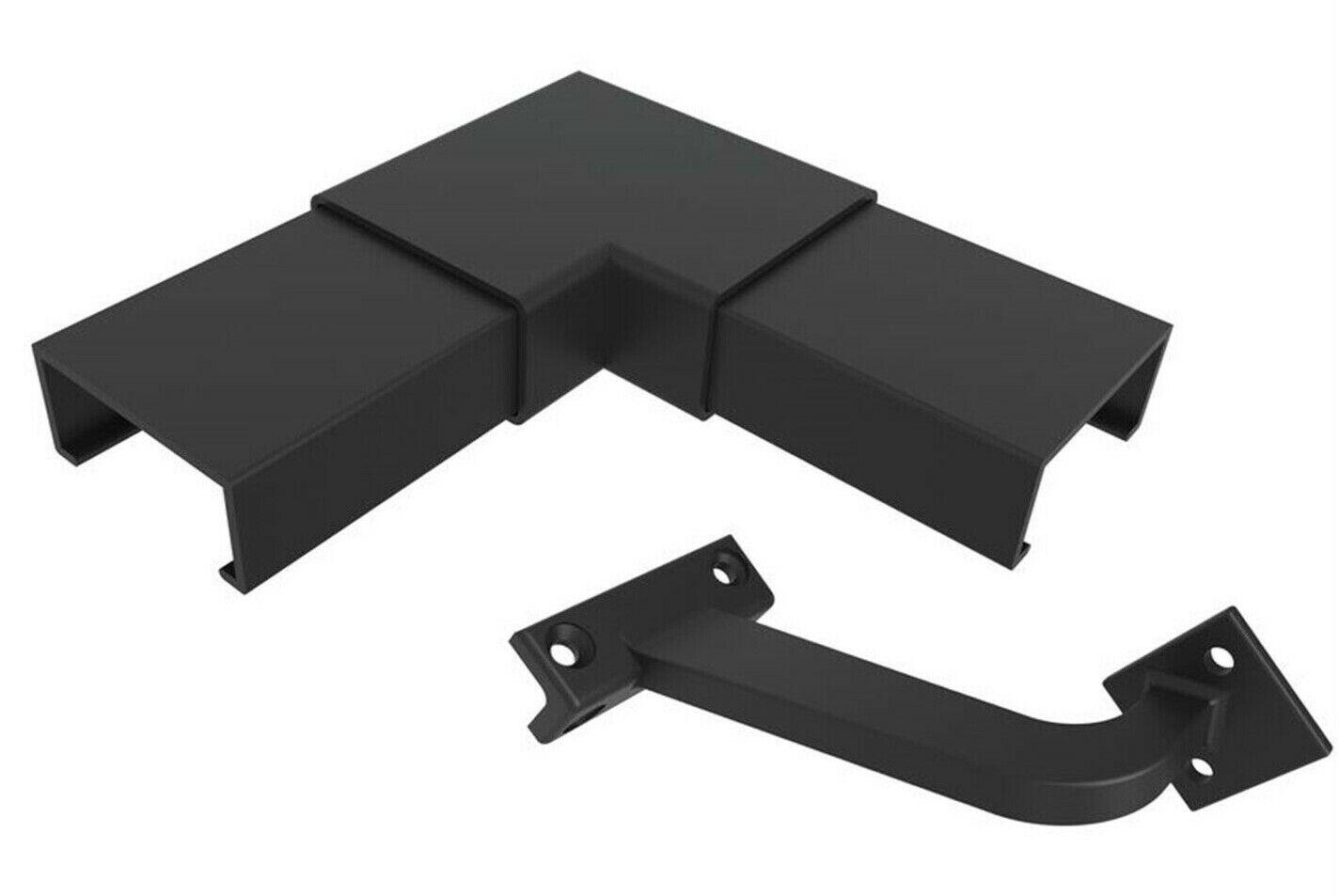 Arquitectos elección Aluminio Offset pasamanos esquina Set 170x170x60mm Negro Satinado