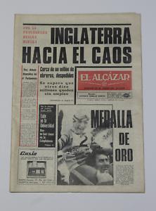 Antiguo Periodico EL ALCAZAR, Publicacion 14 de Febrero de 1972. Buen Estado.