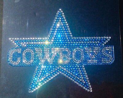 Dallas Cowboys Rhinestone Bling High Quality Vinyl Sticker Decal