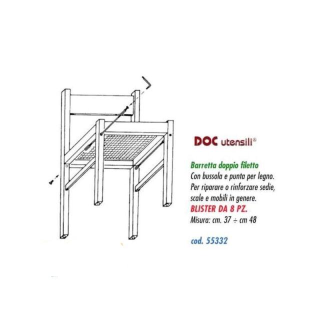 tiranti tirantini per irrobustimento sedie in legno cm. 37-48 blister pezzi 8
