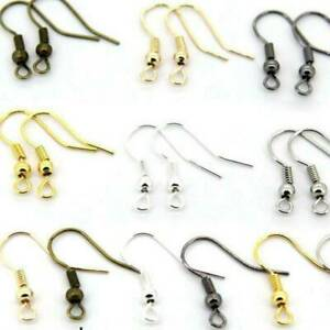 DIY Hot Sale New For Jewelry Making Findings Hook Coil Earring Hook Ear Wire