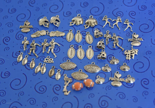 free ship:50+charms:I Love Football Helmets Players We/'re #1 Cleated Shoes more