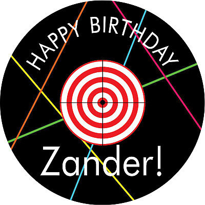 Superb Laser Tag Personalised Edible Real Icing Birthday Cake Topper Ebay Funny Birthday Cards Online Alyptdamsfinfo