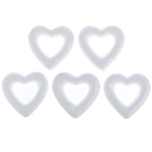 5PCS DIY White Heart Polystyrene Styrofoam Foam Ball For Christmas Ornaments
