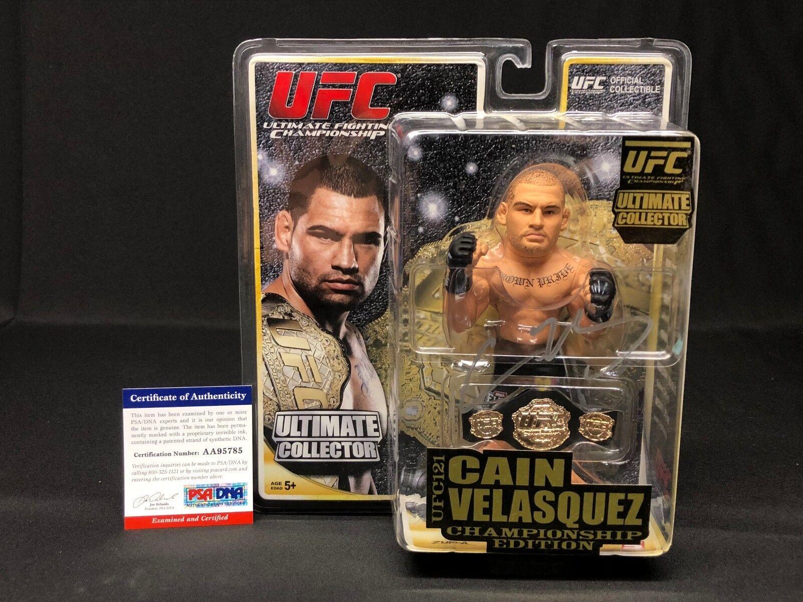 Cain Velasquez Signed UFC Championship Edition Action Figure PSA AA95785