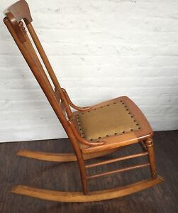 Awesome Details About Antique Heywood Brothers Wakefield Company Birdseye Maple Nursing Rocking Chair Machost Co Dining Chair Design Ideas Machostcouk