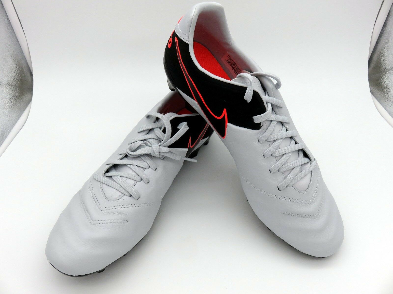 Special limited time Nike Tiempo Mystic V FG Men's Soccer Cleat  819236-001 Platinum Black Comfortable