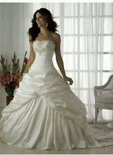 Hot New White/Ivory Wedding Dress Bridal Gown  Size 6- 18 UK