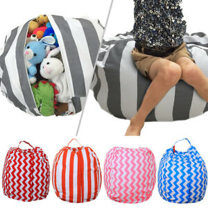 Fantastic Details About Stuffable Storage Bean Bag Animal Kids Plush Toy Pouch Stripe Fabric Chair Id Short Links Chair Design For Home Short Linksinfo