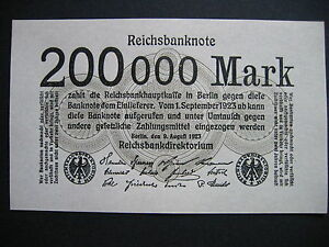 GERMANY-200000-Mark-9-8-1923-Ros-99b-P100-UNC