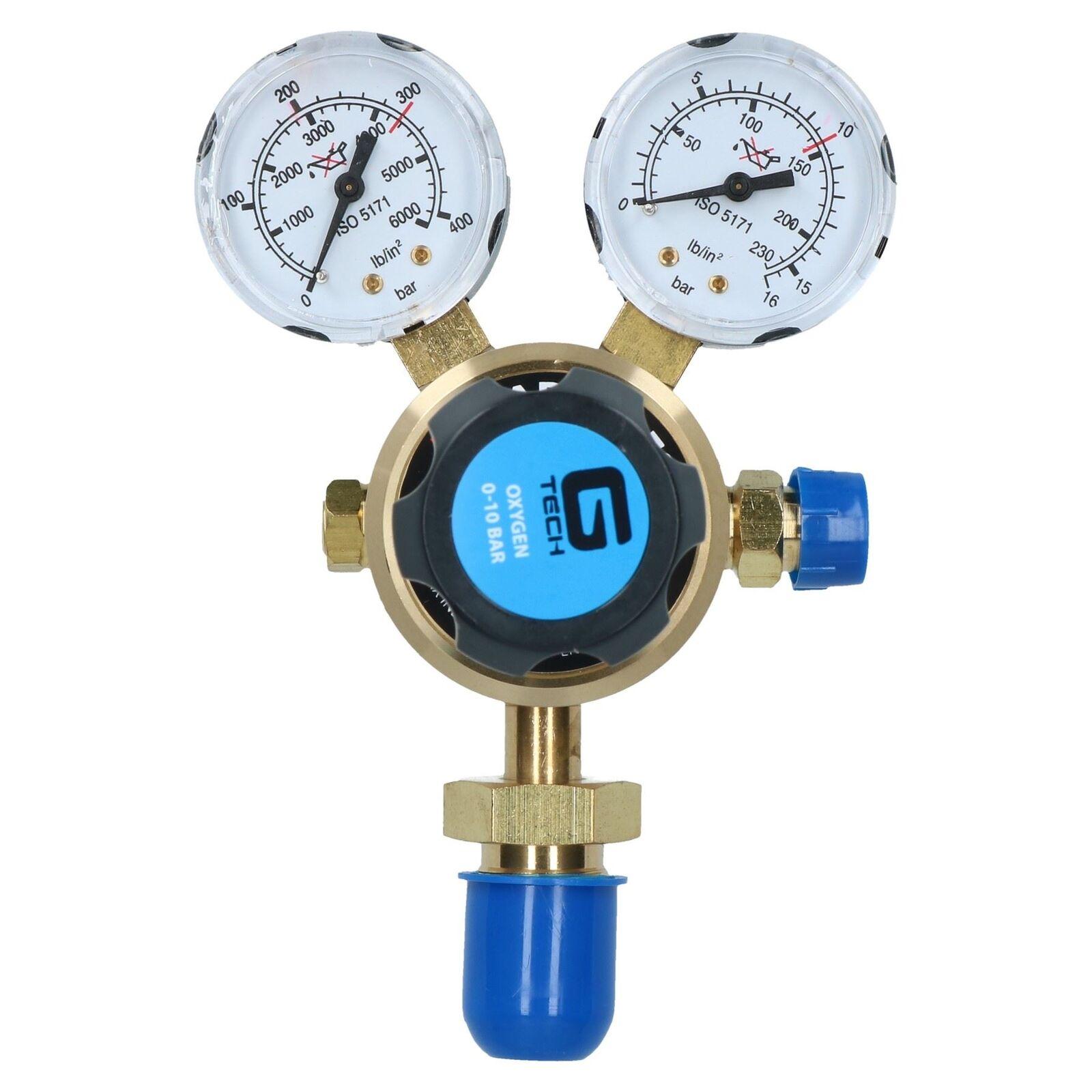 Régulateur d'oxygène O2 seul stade 2 bouteille de gaz manomètre 300bars Soudeur