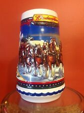 2002 Budweiser Holiday Ceramic Stein Guiding The Way Home CS529