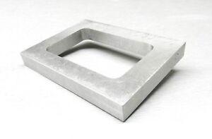 "Mold Frame For Vulcanizer Single Cavity Aluminum Pre-Cut Mold Rubber 5//8/"" Thick"