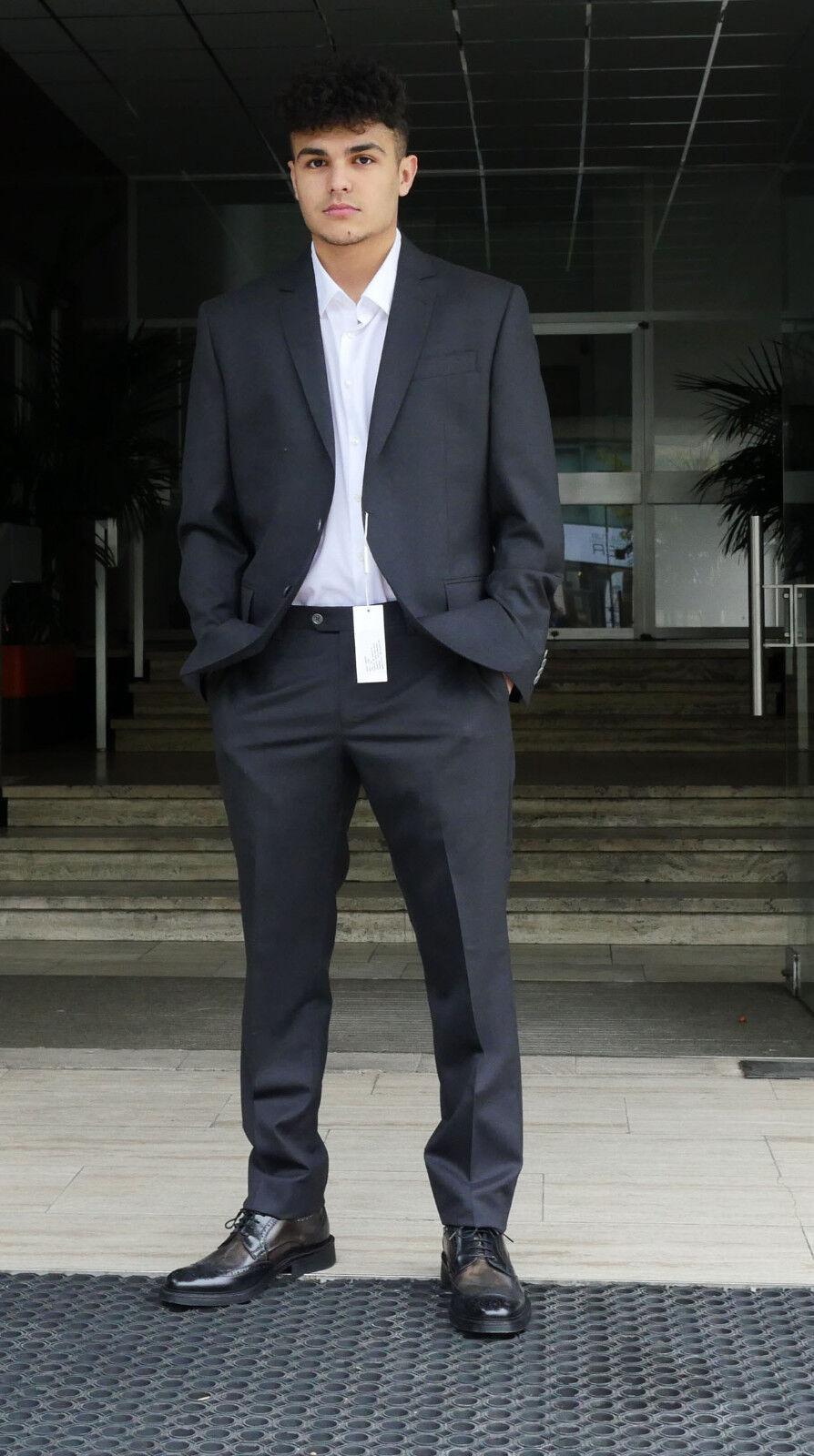 Herren Anzug Pierre BALMAIN 100% Wolle Herren suit wool 52 grau Grau neu new