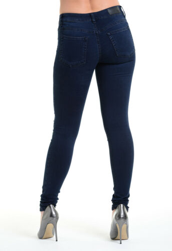 Ex High Street Ladies Blue Super Stretch Jeans Womens Super Flex Jeggings