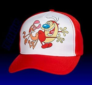 Image is loading New-Nickelodeon-Ren-amp-Stimpy-Mens-Vintage-Snapback- a663863084f
