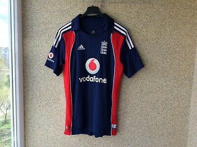 England Cricket Shirt S Adidas Jersey Vodafone 2008/2009 | eBay