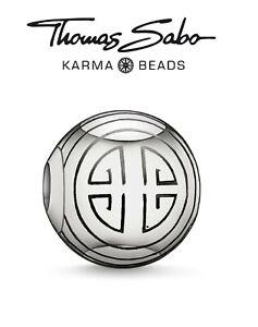 Genuine-THOMAS-SABO-925-sterling-silver-LONG-LIFE-Karma-charm-bead