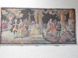 Tableau Panneau Tapisserie Ancienne Aubusson Gobelin Cadre 102 X 50