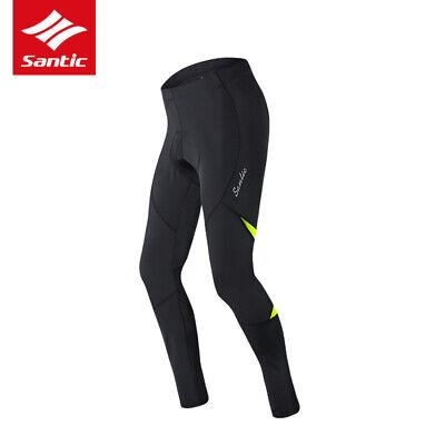 Santic Men Cycling Pants Quick Dry Spring Autumn 4D Padded Cushion Tights Black