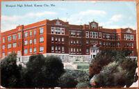 1912 Postcard: 'Westport High School - Kansas City, Missouri MO'