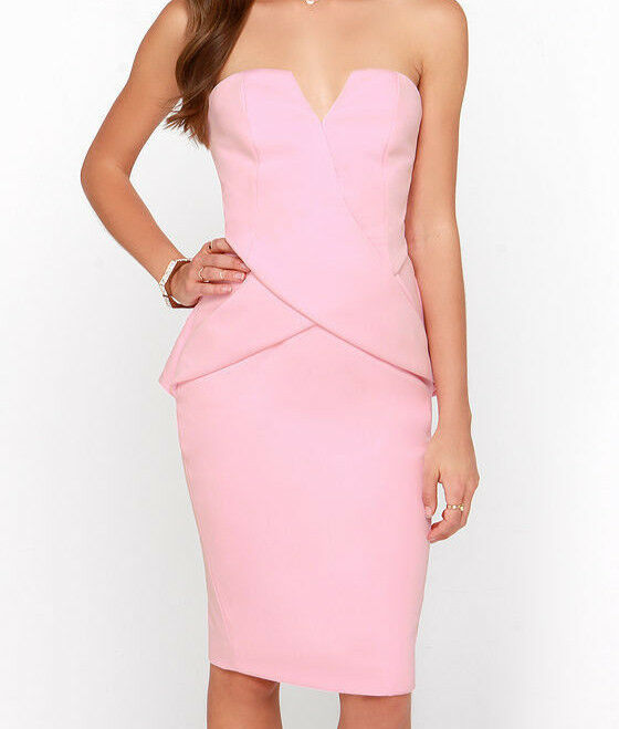 Beautiful Designer Finders Keepers In between Days Strapless Dress, Pink, Small