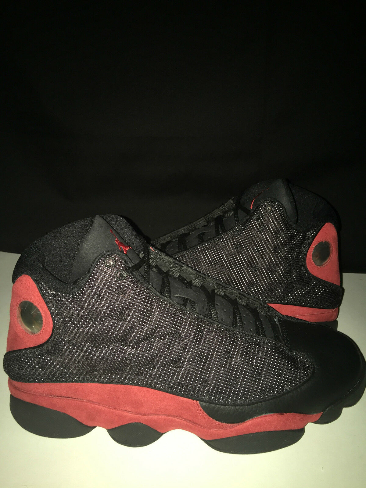 separation shoes 22c40 f0e39 NIKE NIKE NIKE AIR JORDAN 13 RETRO BLACK VARSITY RED-WHITE 414571 010 sz 9.5
