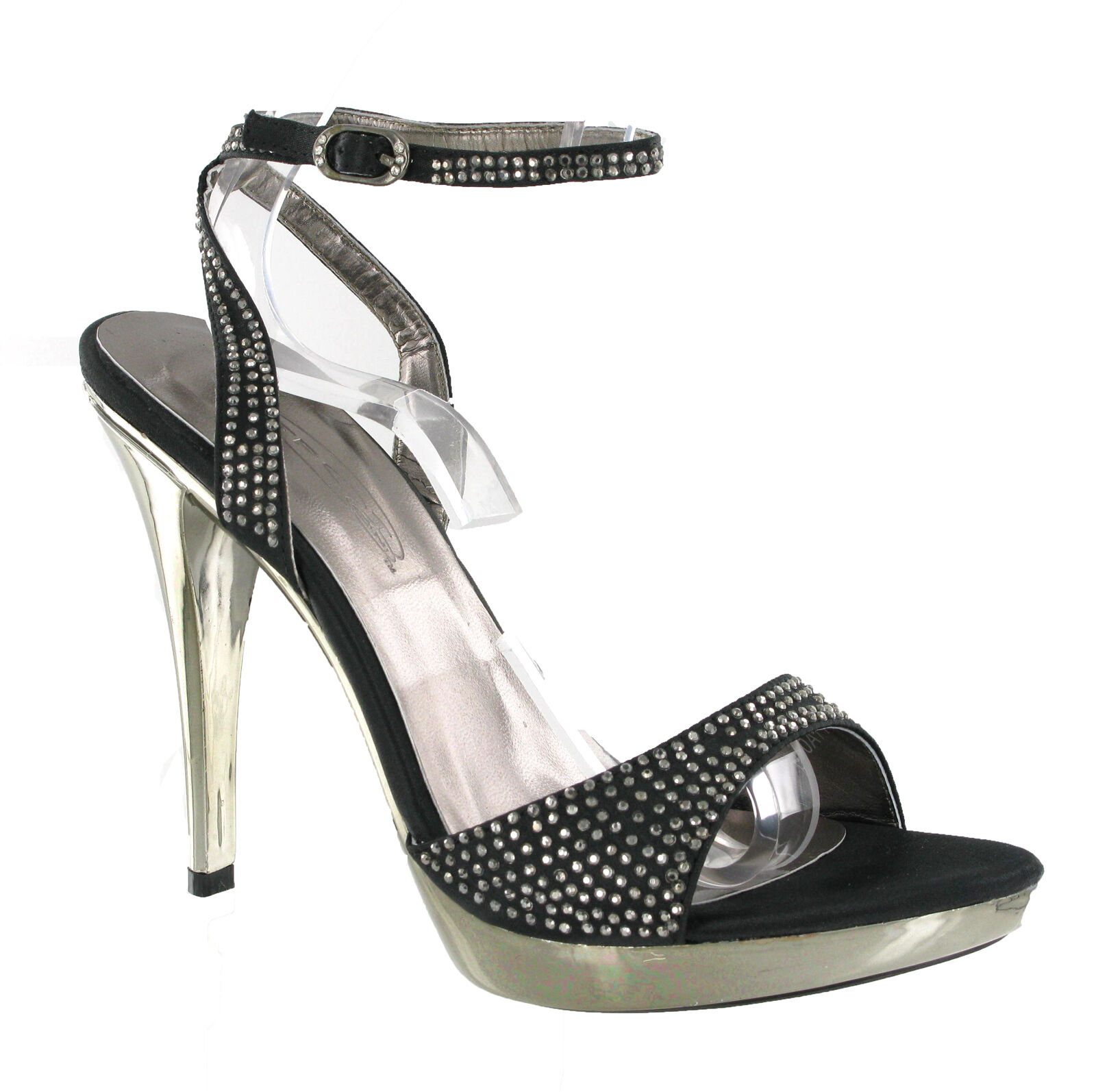 Womens Strap High Heels Stud Design Platform Party CushionedSandals Shoes UK 3-8