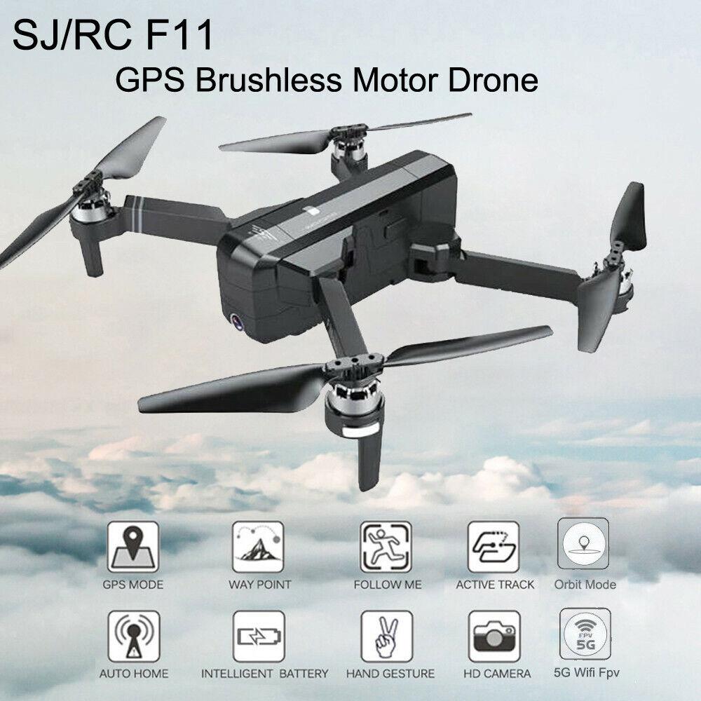 Nuevo SJRC F11 GPS 5G Wi-fi FPV 1080P Hd Cam Drone quadricóptero RC sin Escobillas Plegable