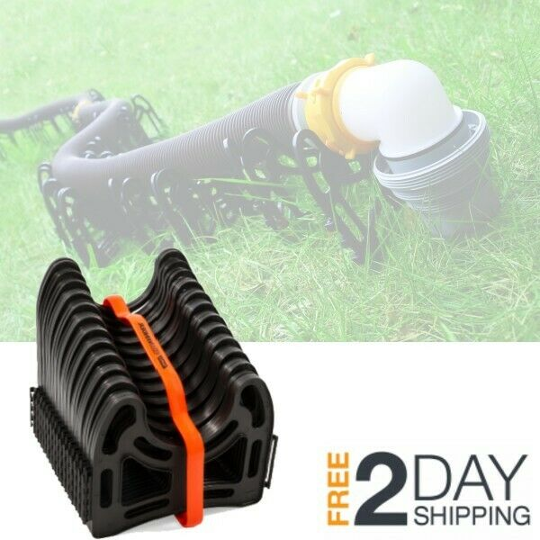 Trailer Sewer Hose Support 15 Feet Sturdy Plastic Rv Campers Hold System Storage For Sale Online