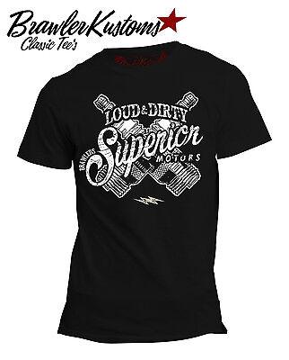 Vintage Rockabilly T-Shirt, Billy Brawler Superior, RockabillyShirt Retro