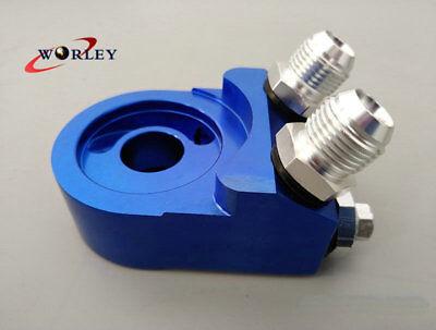 Aluminum AN10 Oil Filter Cooler Sandwich Plate Adapter Oil Adapter col