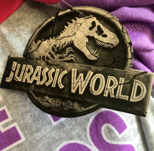 Jurassic World Park Fallen Kingdom Girls Pajamas Dinosaur Shirt Shorts Size M