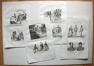 Sammlung-Napoleon-Italien-Lodi-Rom-Lonado-und-Lugo-6-Kupferstiche-1835