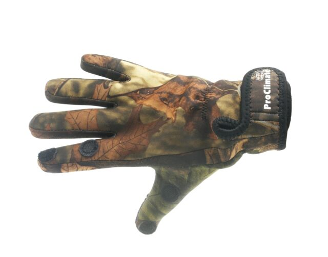 Pro Climate Mens Neoprene with Textured Grip Camo Fishing Gloves