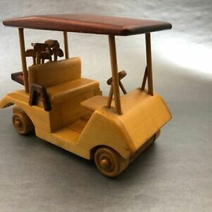 Wooden-Golf-Cart-Decoration-Decore-Office-Living-Room-Desk-Table-Shelf-USA