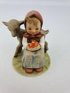Good-Friends-Girl-Lamb-Hummel-Goebel-Number-182-Figurine-TMK-3-Bee-4-034