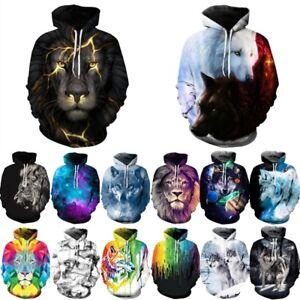 Wolf-Tiger-3D-impreso-para-mujer-hombre-con-capucha-Sudadera-con-capucha-Tops-Jersey-Jumper