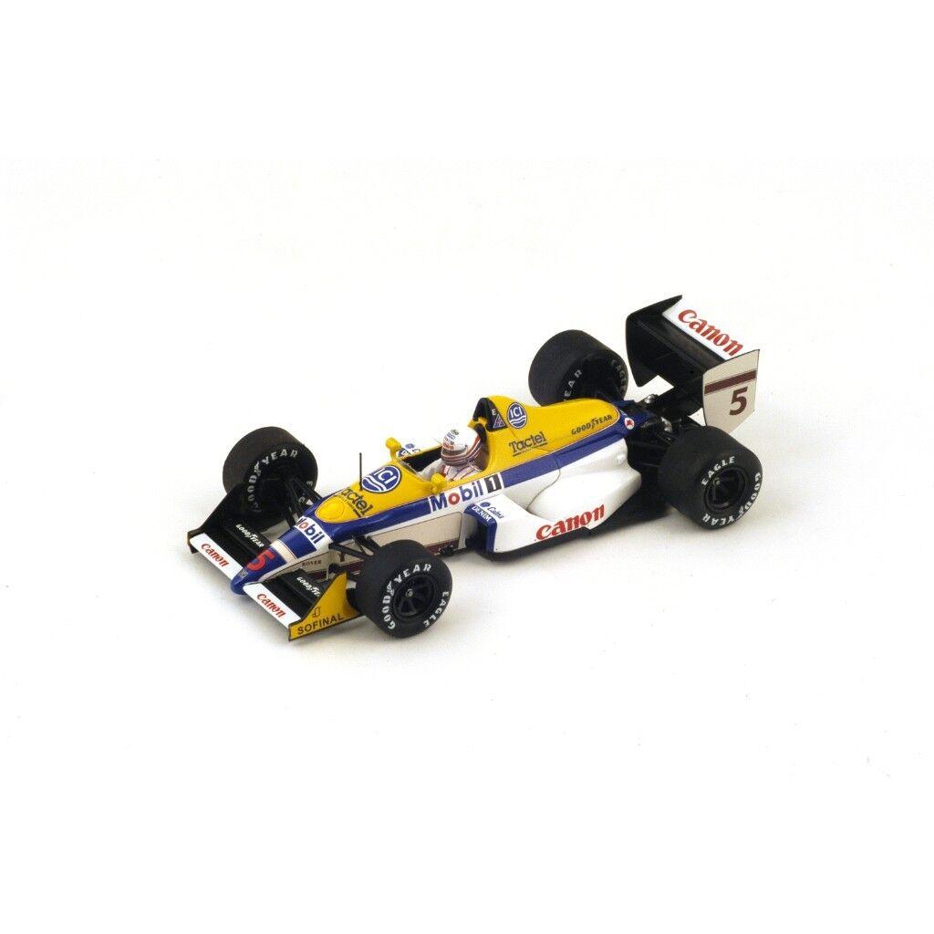 Spark Model 1 43 S4027 Williams FW12 F.1  5 Belgian GP 1988 Martin Brundle NEW