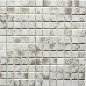 Retro-Vintage-Mosaik-Fliese-Keramik-grau-Laceo-grau-Fliesenspiegel-Kueche18D-1402
